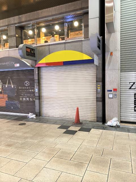 心斎橋筋北商店街沿いの貸店舗